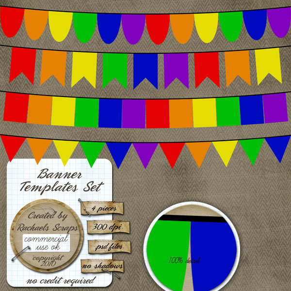 birthday party banner template banner templates set