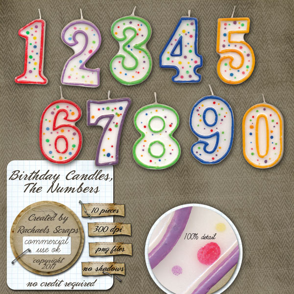 Birthday Candles The Numbers