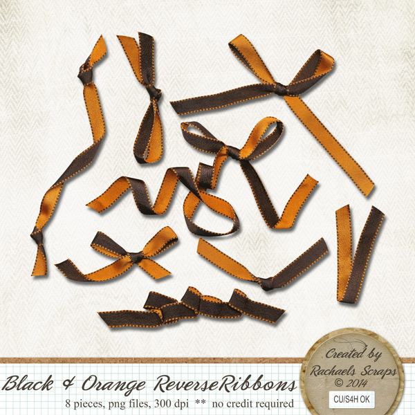Black and Orange Reverse Ribbons