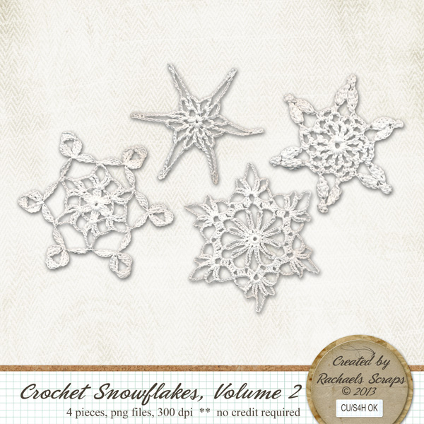Crocheted Snowflakes, Volume 2