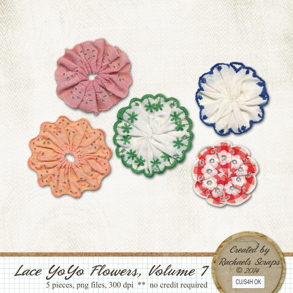 Lace YoYo Flowers, Volume 7