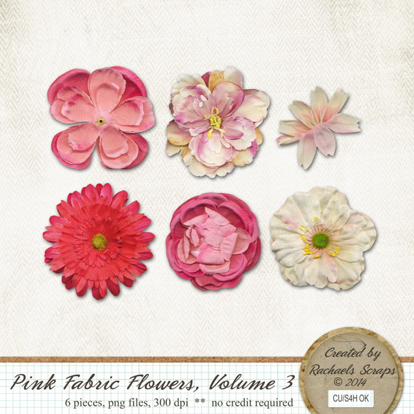 Pink Fabric Flowers, Volume 3