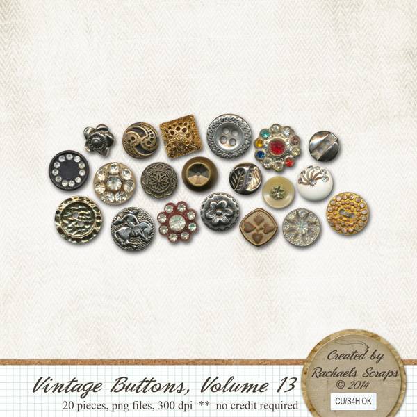 Vintage Buttons, Volume 13