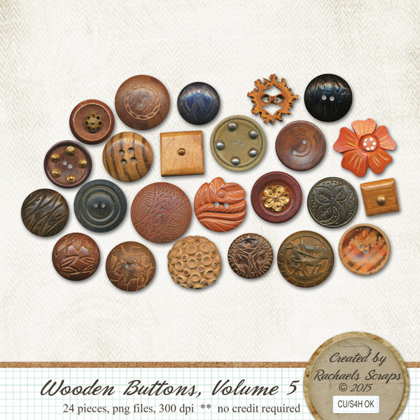Wooden Buttons, Volume 5