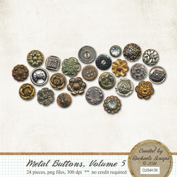 Metal Buttons, Volume 5